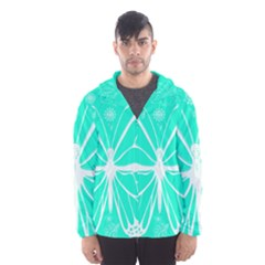 Butterfly Cut Out Flowers Hooded Wind Breaker (men)