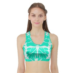 Butterfly Cut Out Flowers Sports Bra With Border by Simbadda