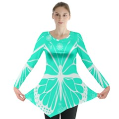 Butterfly Cut Out Flowers Long Sleeve Tunic  by Simbadda