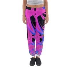 Fractal In Bright Pink And Blue Women s Jogger Sweatpants