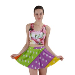 Colorful Easter Ribbon Background Mini Skirt by Simbadda