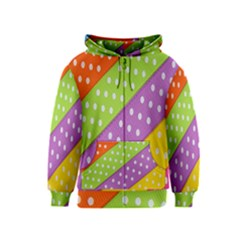 Colorful Easter Ribbon Background Kids  Zipper Hoodie by Simbadda