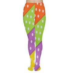 Colorful Easter Ribbon Background Women s Tights by Simbadda