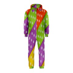 Colorful Easter Ribbon Background Hooded Jumpsuit (kids) by Simbadda