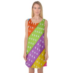Colorful Easter Ribbon Background Sleeveless Satin Nightdress by Simbadda