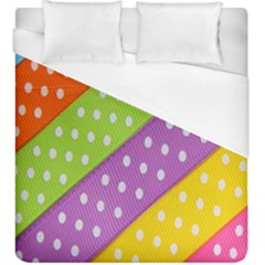 Colorful Easter Ribbon Background Duvet Cover (king Size)