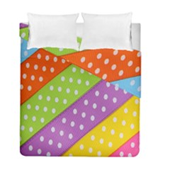Colorful Easter Ribbon Background Duvet Cover Double Side (full/ Double Size) by Simbadda