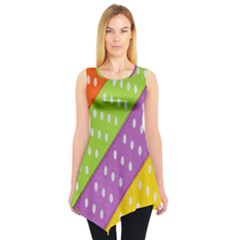 Colorful Easter Ribbon Background Sleeveless Tunic by Simbadda