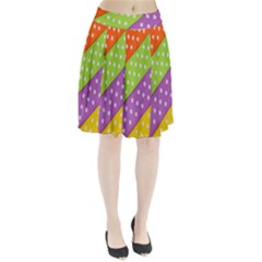 Colorful Easter Ribbon Background Pleated Skirt by Simbadda