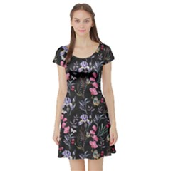 Wildflowers I Short Sleeve Skater Dress