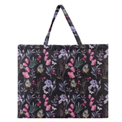Wildflowers I Zipper Large Tote Bag