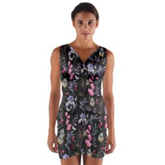 Wildflowers I Wrap Front Bodycon Dress