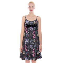 Wildflowers I Spaghetti Strap Velvet Dress