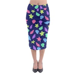 Shells Midi Pencil Skirt by BubbSnugg