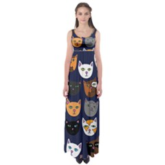 Cat  Empire Waist Maxi Dress by BubbSnugg