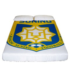 Jiangsu Suning F C  Fitted Sheet (king Size) by Valentinaart