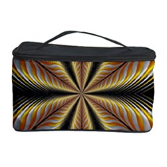 Fractal Yellow Butterfly In 3d Glass Frame Cosmetic Storage Case by Simbadda