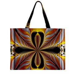 Fractal Yellow Butterfly In 3d Glass Frame Zipper Mini Tote Bag by Simbadda