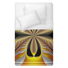 Fractal Yellow Butterfly In 3d Glass Frame Duvet Cover (single Size) by Simbadda
