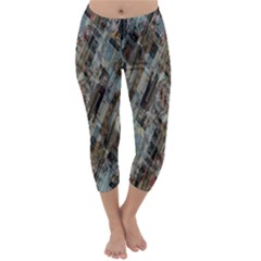 Abstract Chinese Background Created From Building Kaleidoscope Capri Winter Leggings
