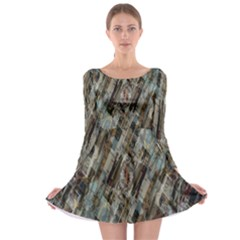 Abstract Chinese Background Created From Building Kaleidoscope Long Sleeve Skater Dress