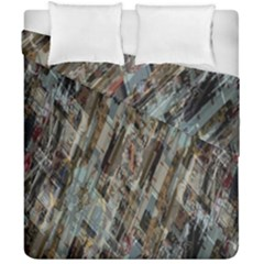 Abstract Chinese Background Created From Building Kaleidoscope Duvet Cover Double Side (california King Size)