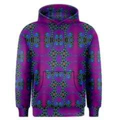 Purple Seamless Pattern Digital Computer Graphic Fractal Wallpaper Men s Pullover Hoodie