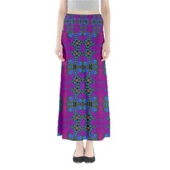 Purple Seamless Pattern Digital Computer Graphic Fractal Wallpaper Maxi Skirts