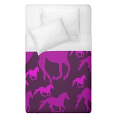 Pink Horses Horse Animals Pattern Colorful Colors Duvet Cover (single Size) by Simbadda
