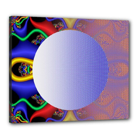 Texture Circle Fractal Frame Canvas 24  X 20  by Simbadda