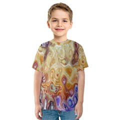 Space Abstraction Background Digital Computer Graphic Kids  Sport Mesh Tee