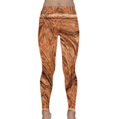 3d Glass Frame With Fractal Background Classic Yoga Leggings