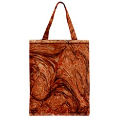 3d Glass Frame With Fractal Background Zipper Classic Tote Bag by Simbadda