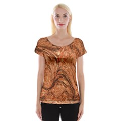 3d Glass Frame With Fractal Background Women s Cap Sleeve Top