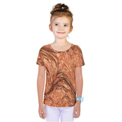 3d Glass Frame With Fractal Background Kids  One Piece Tee by Simbadda
