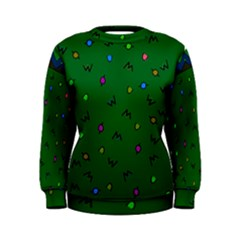 Green Abstract A Colorful Modern Illustration Women s Sweatshirt