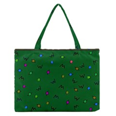 Green Abstract A Colorful Modern Illustration Medium Zipper Tote Bag