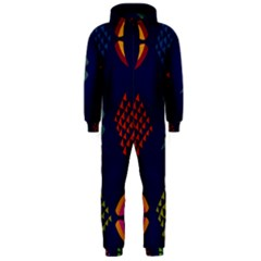 Abstract A Colorful Modern Illustration Hooded Jumpsuit (men)