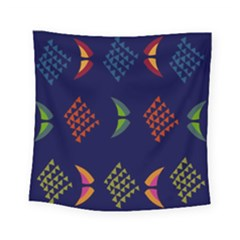 Abstract A Colorful Modern Illustration Square Tapestry (small) by Simbadda