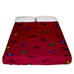 Red Abstract A Colorful Modern Illustration Fitted Sheet (queen Size) by Simbadda