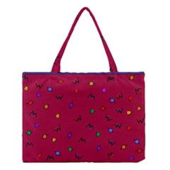 Red Abstract A Colorful Modern Illustration Medium Tote Bag