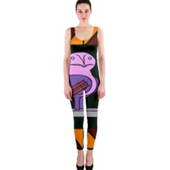 Owl A Colorful Modern Illustration For Lovers Onepiece Catsuit by Simbadda