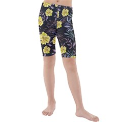 Wildflowers Ii Kids  Mid Length Swim Shorts