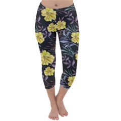 Wildflowers Ii Capri Winter Leggings