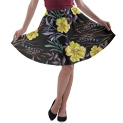 Wildflowers Ii A Line Skater Skirt