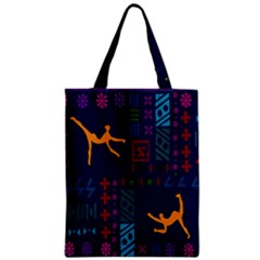 A Colorful Modern Illustration For Lovers Zipper Classic Tote Bag by Simbadda