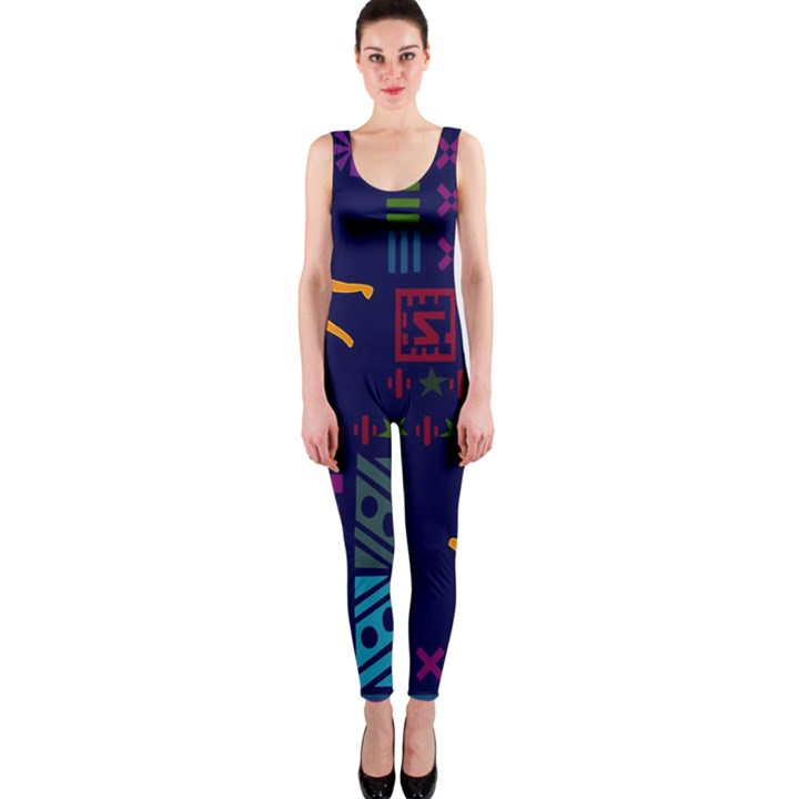 A Colorful Modern Illustration For Lovers OnePiece Catsuit