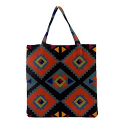 Abstract A Colorful Modern Illustration Grocery Tote Bag