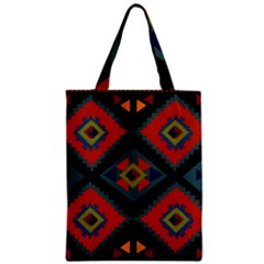 Abstract A Colorful Modern Illustration Zipper Classic Tote Bag by Simbadda