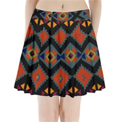 Abstract A Colorful Modern Illustration Pleated Mini Skirt